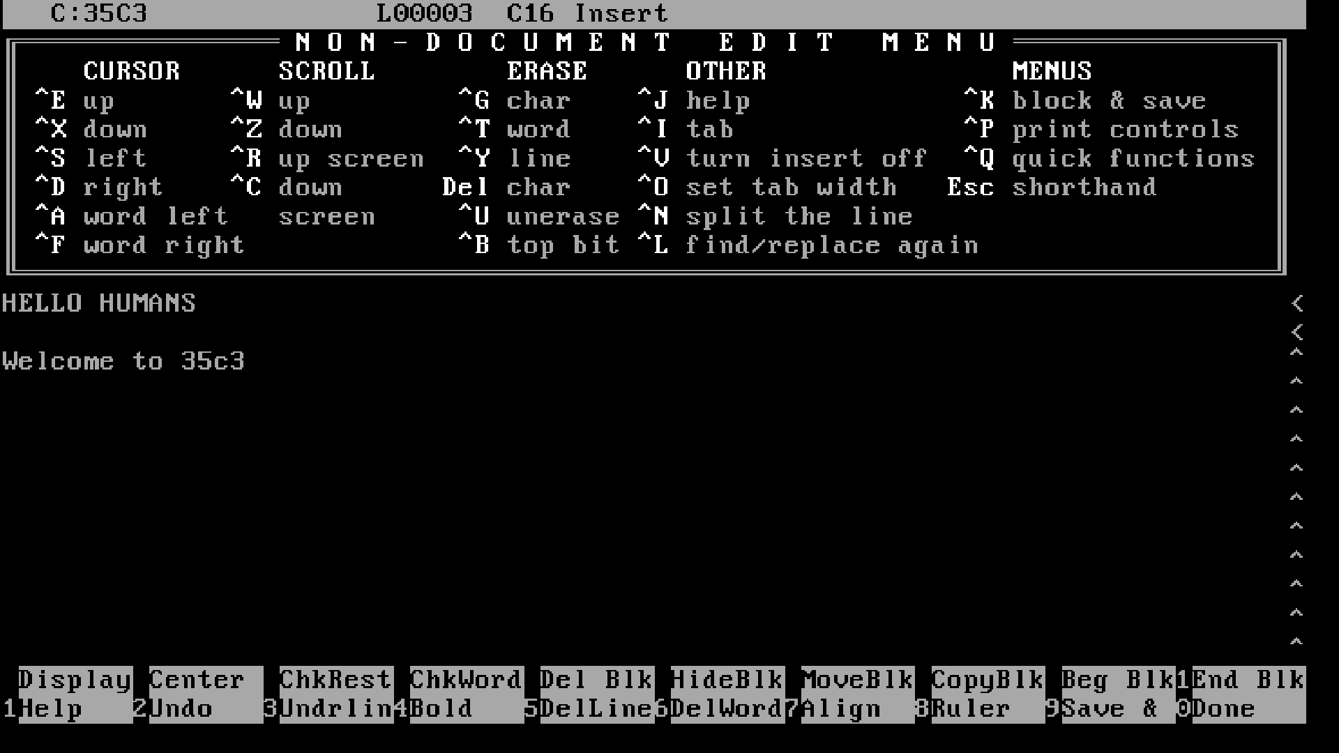 WordStar for MS-DOS
