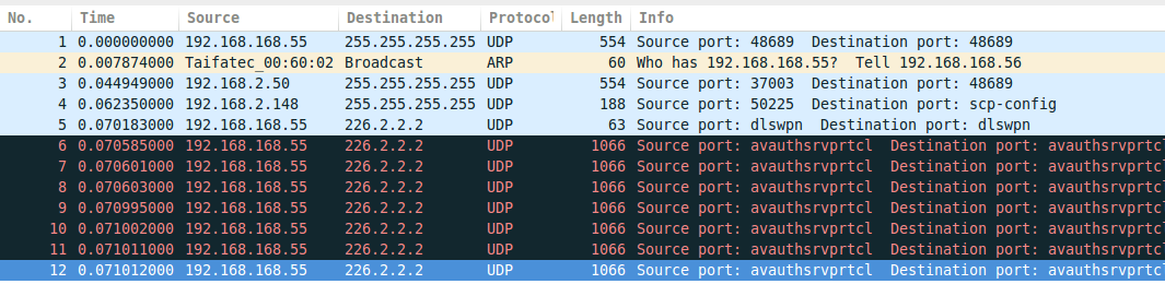 an wild arp packet appears