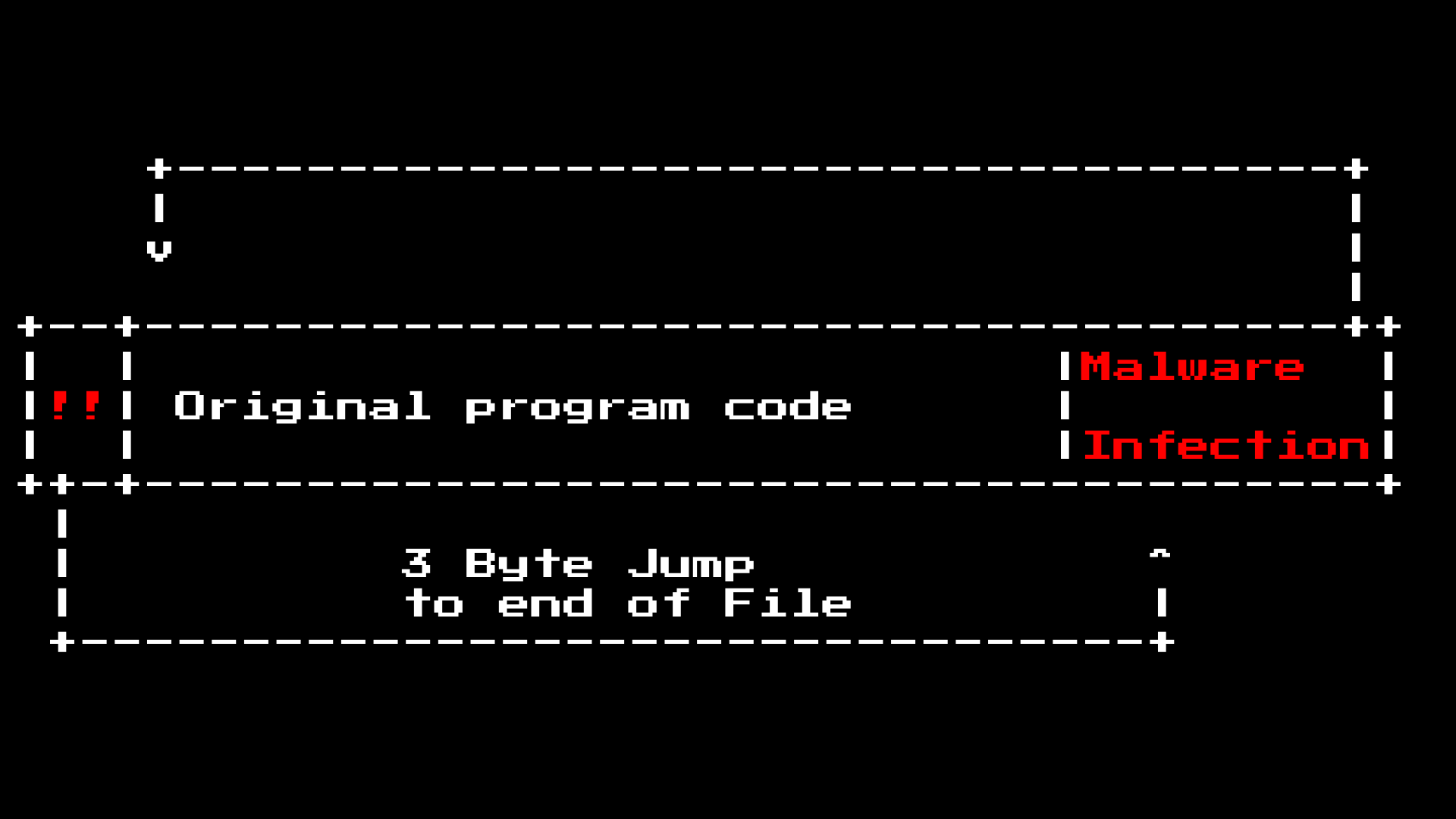 COM file tape that has been infected