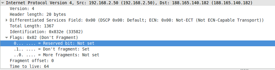 The reserved bit in wireshark is the evil bit