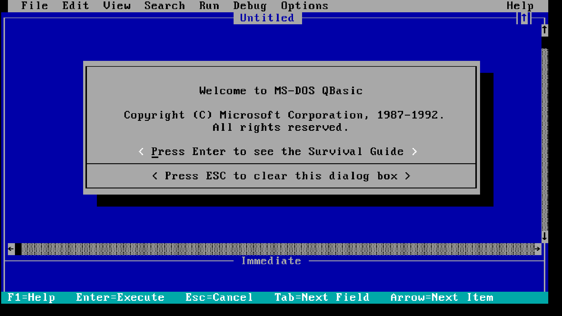 QBASIC for MS-DOS